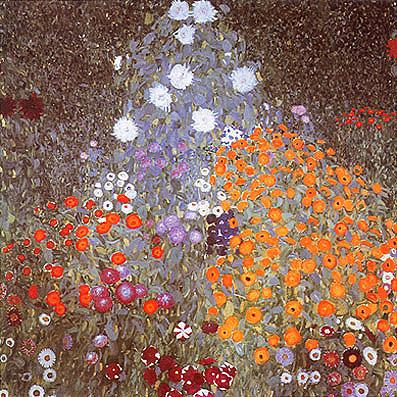Gustav Klimt Flower Garden 1905
