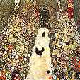 Gustav Klimt Garden Path with Chickens