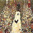 Gustav Klimt Garden Path with Chickens