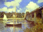 Claude Monet Road Bridge at Argenteuil