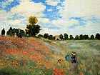 Claude Monet Poppy Field at Argenteuil 1873