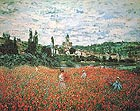 Claude Monet Poppy Field near Vetheuil