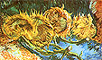 Vincent van Gogh Four Cut Sunflowers 1887
