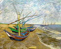 Vincent van Gogh Fishing Boat on the Beach