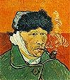 Vincent van Gogh Self Portrait Ear and Pipe