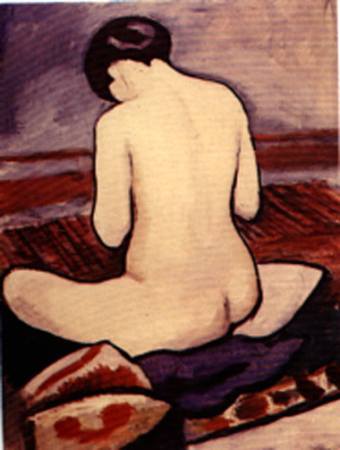 August Macke Sitting Nude 1911