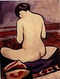 August Macke Sitting Nude 1911