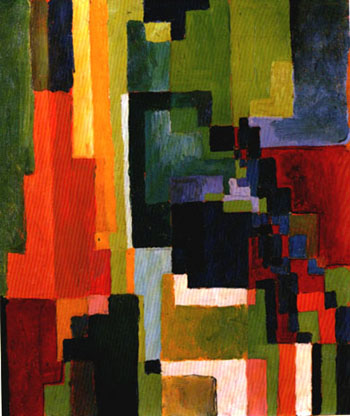 August Macke Coloured Forms II 1913