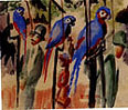August Macke Visiting the Parrots 1914