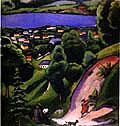August Macke Tegernsee Landscape 1910
