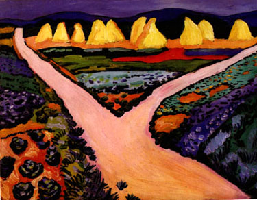 August Macke Vegetable Fields 1911