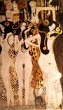 Gustav Klimt Hostile Forces  Detail 1902